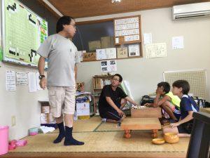 子ども囲碁教室の様子