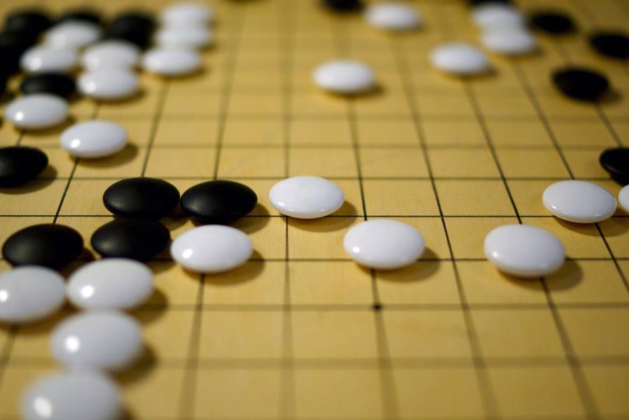 子ども囲碁教室の碁盤