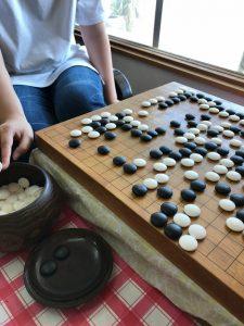 宮崎清武町の子ども囲碁教室の様子