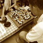 清武の子ども囲碁教室の様子