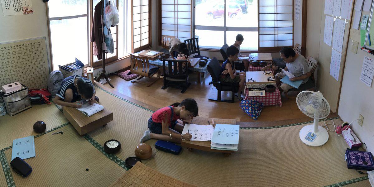 夏休み直前の囲碁初心者教室