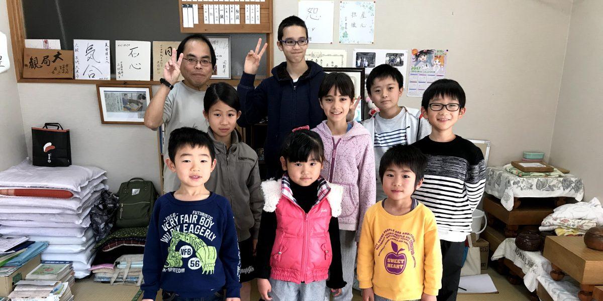 清武の子ども囲碁教室の仲間たち