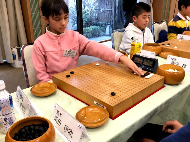 ンド杯第22回全日本こども囲碁チャンピオン戦全国大会(小学生)の様子